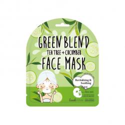 GREEN BLEND TEA TREE+CUCUMBER FACE MASK